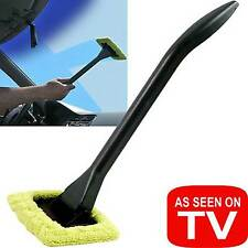 Handy EZ Windshield Wiper Long Handle & Pivoting Head Brush Cleaner Window Car