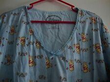 New Disney Winnie the Pooh Blue Sleep Wear Dress 2X Flower Romantic Floral NWT