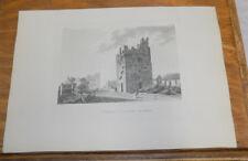 1794 Ireland Antiquity Print///DALKEY CASTLES, COUNTY DUBLIN