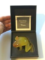 NEW DAUM FROG PATE-DE-VERRE GLASS CRYSTAL w/ GOLDEN TONE EYES _ Paper/Weight