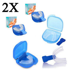 2 X Mouthguard Mouthpiece Snoring Aid Anti Snore Sleep Quality Mouth Guard