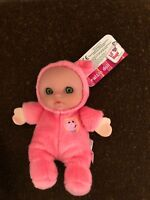 JC Toys Berenguer Lil Hugs Soft Rattle Pink Pig Doll, 5'' Soft Plush New