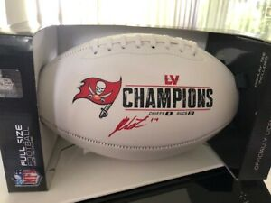 JUSTIN WATSON SIGNED BUCCANEERS SB LV CHAMPS FOOTBALL