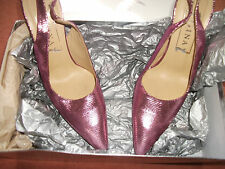 Gina shoes size 4.5, stunning, pink leather metallic snakeskin effect, with box.
