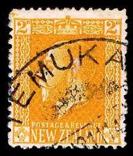 1916 NEW ZEALAND #147 KING GEORGE V - USED - VF - CV$35.00 (ESP#1869)