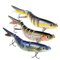 TRUSCEND 3× 13cm Wobblers 8 Segments Fishing Lures Swimbait Hard Bait Bass lure