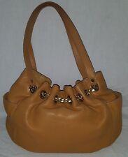 Michael Kors Handbag Jet Set Chain Camel Pebbled Leather Authentic Cinch Tote