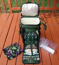 Insulated Wheeled Rolling Picnic Time Cooler Bag Travel Event Tailgate Tote