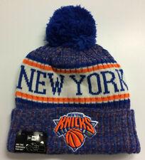 New York Knicks NY New Era NBA Knit Hat On Court Sport Beanie Stocking Cap