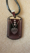 LOVE NECKLACE 3 CLEAR RHINESTONES, CHRISTMAS, BIRTHDAY, AND MORE