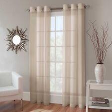 Kensington 50x95 Crushed Voile Grommet Sheer Window Panel Curtain, Ivory Cream