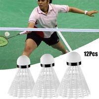 12Pcs White Badminton Ball Shuttlecocks Sports Supplies Training Outdoor