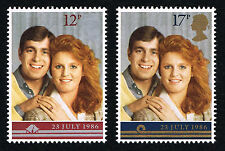 GB 1986 Royal Wedding SG 1333/1334 Set of 2 Mint MNH