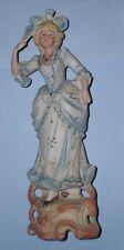 Ideal Regalo increíble Antiguo Vintage Hermosa Chica Mujer Figura Ornamento De Pantalla