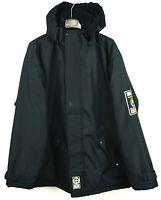 ANAPURNA Men's M Black Hooded Coat Fleece Lined Jacket Warm Outdoors Windbreaker