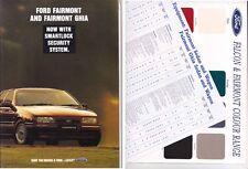 1993 FORD EB FAIRMONT & FAIRMONT GHIA Prestige Brochure & Colour Chart FALCON