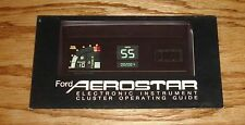 Original 1992 Ford Aerostar Electronic Instrument Cluster Operating Guide 92