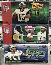 3 - Topps FOOTBALL Complete Factory Sealed Set 1999 2001 2002
