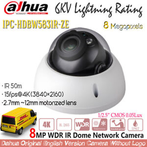 8MP 4K PoE IPC-HDBW5831R-ZE WDR ICR motorized lens IR Dome Network Camera