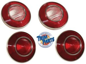 1974 Corvette Tail Lights with Backup Lights US Made by Trim Parts Set 4 C3 NEW