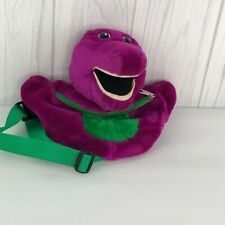 Barney Fanny Pack Kids Plush Adjustable Dinosaur Purple Vintage Made in Korea