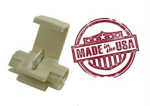 MVP 100 White Quick Splice Tap Wire Terminal Connector 14-18 AWG - USA - TQ14W
