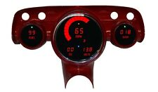 1957 Bel Air Digital Dash Panel Cluster Gauges Red Leds