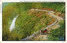 Appalachian Scenic Highway Blue Ridge Mountains Old Car 1940