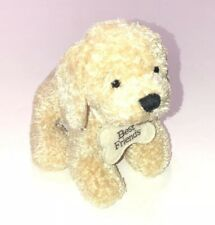 Ganz Heritage Collection Lexie Dog Plush Cream Collar Floppy Bean Approx 8""
