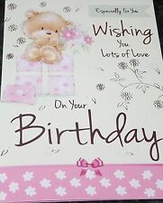 Female Birthday Card by Heartstrings Cards. Wishing You Lots of Love Theme.