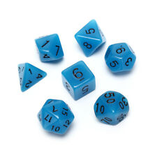 7pc/lot Glowing in the dark Dice Set D4/6/8/10/10%25/12/20 for Board Game O