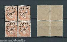 PRÉOBLITÉRÉS - 1922-47 YT 39 BLOC DE 4 - TIMBRES NEUFS** LUXE