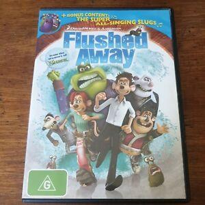 Flushed Away + Bonus Super All-Singing Slugs DVD R4 Like New! FREE POST