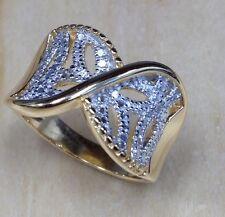 GENUINE Diamond & Diamond Accented Ring Size 7 New