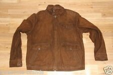 $1395 Polo Ralph Lauren Suede Brown Leather Cowboy Men Jacket Large L