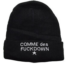 Hip Hop chic Cool COMME DES FUCKDOWN Knitting Wool Beanie Hat Winter Warm Cap