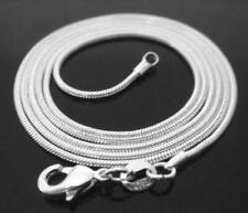 WOMEN & MEN 925 Stamped Sterling Silver 1mm SNAKE Chain Necklace 925 Italian NEW