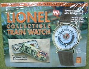 NEW IN BOX Vintage Lionel Collectible Train Watch - Train Moves & Whistles)