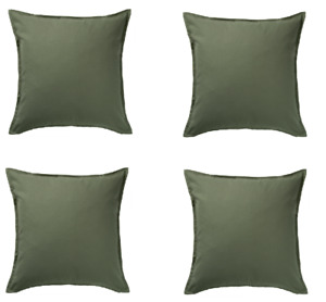IKEA GURLI Cushion Cover Dark Olive Green Sofa Cushion Cover 100% Cotton 50x50cm