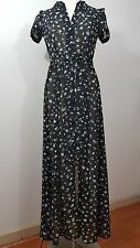 Wildfox Couture  Fall Floral Maxi Dress In Black Size S