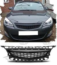 FRONT BLACK GRILL FOR VAUXHALL ASTRA J 09-12 SPORT NO EMBLEM BODY KIT NEW