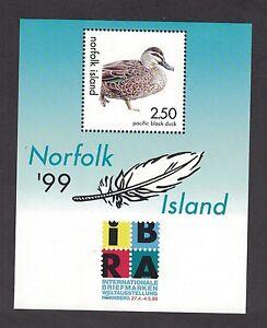 Norfolk Islands IBRA 99  Souvenir Sheet of 1. MNH OG.   #02 NORFIBRA