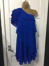 stunning Monsoon blue one shoulder layered dress size 8