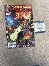 MARVEL Stan Lee cumple con autógrafo firmado Doctor Strange COMIC Bas gran condición