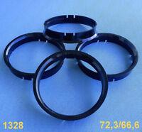 66,6 mm schwarz 9mm für Alufelgen 1433 4x Zentrierringe 76,0