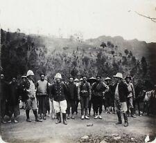 Indochine France Militaires Colonie Photo K12 Plaque de verre Stereo Vintage