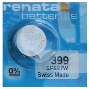 Pile pour montre Renata SR927W 399 AG7 SR927 SR57 pile bouton 0% mercure Swatch