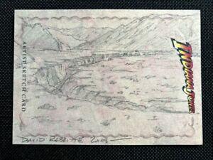 2208 TOPPS HERITAGE INDIANA JONES SKETCH CARD DAVID RABBIT CANYON CRESCENT MOON!
