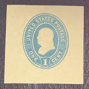 TRAVELSTAMPS: 1887-1894 US Stamps Scott #W304 Cut Square 1 Cent Denomination MH