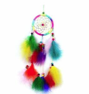 Attrape Rêve Plumes Dream-Catcher Multicolore - Bijoux des Lys